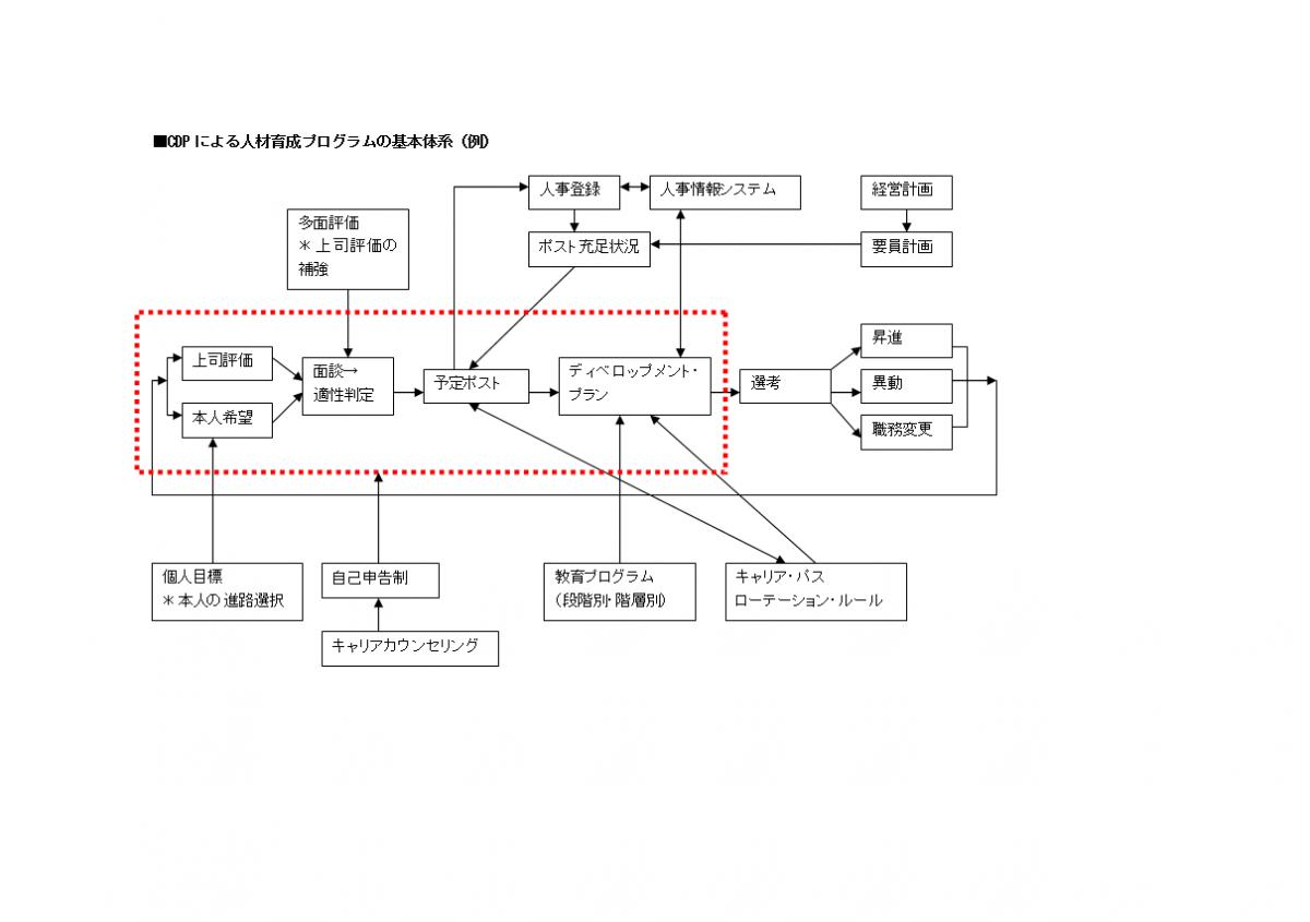CDPによる人材育成プログラムの基本体系