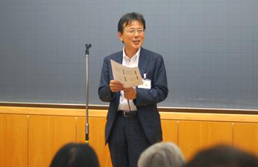金井教授(ODNJ代表理事)の開会挨拶