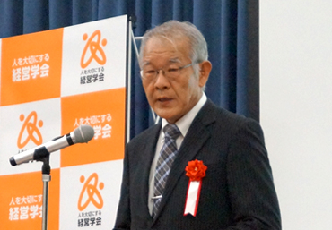 電気通信大学長・福田喬氏によるスピーチの様子
