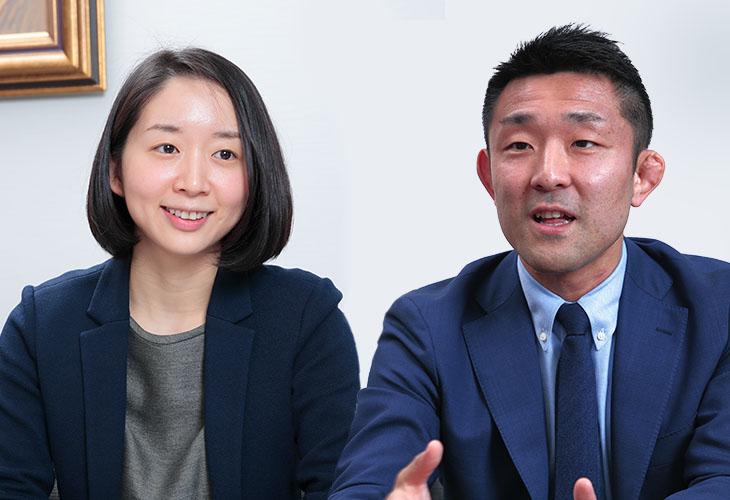 株式会社日本政策投資銀行 サステナビリティ企画部 中澤伸一さんと橋本明彩代さん