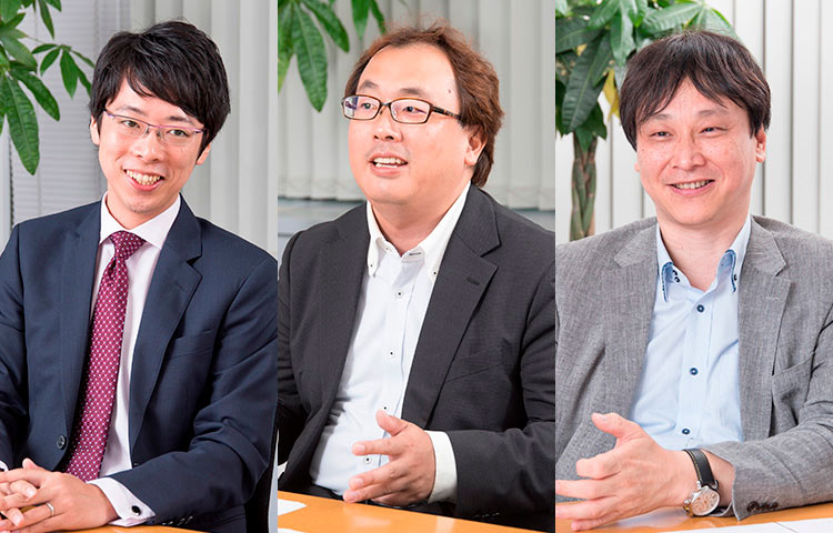 東京アカデミーオーケストラ 益本貴史さん 田口輝雄さん 室住淳一さん (左から)