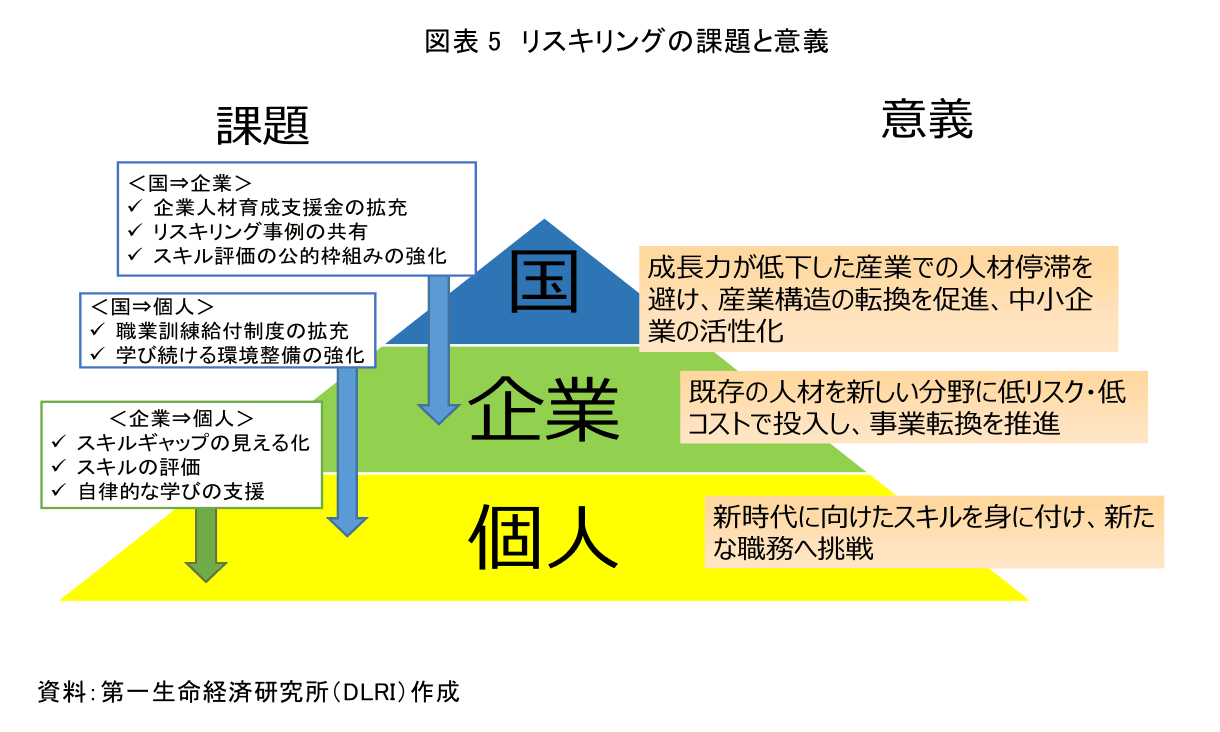 図表5 リスキングの課題と意義