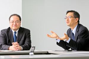 人材開発部 部長 大杉信之さん 人材開発部 教育システム開発課 課長 谷口淳さん