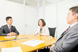 秋山進さん,小川達也さん,中原孝子さん