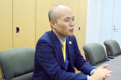 竹林 経治氏 インタビューの様子