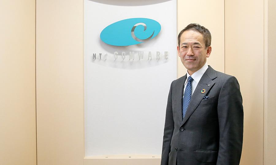 山本達哉さん(NTTコムウェア株式会社 取締役 エンタープライズビジネス事業本部 ビジネスデザインソリューション部 部長)