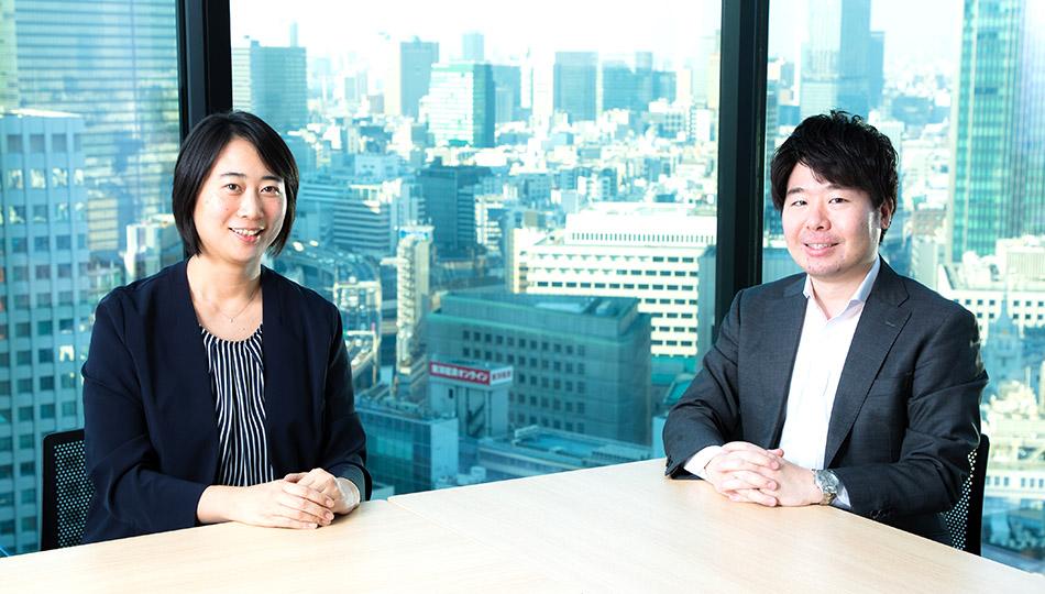 松尾麻記子さん 古谷遼さん(丸紅株式会社 人事部)