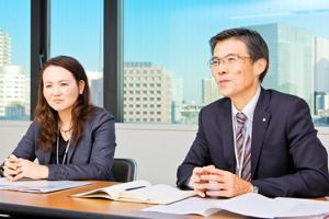 管理本部 人事部 人材開発課 課長 川口 輝裕さん 篠崎 巳奈さん