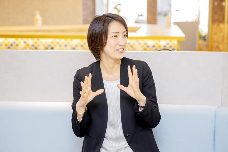 三井情報株式会社 世良真理さん インタビューの様子
