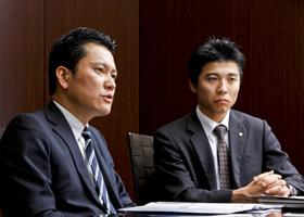大和証券キャピタル・マーケッツ株式会社 中川 隆弘さん(左)、南 泰介さん(右)