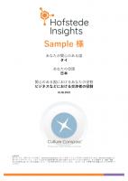 異文化適応力診断レポート(カルチャーコンパス)【サンプル】