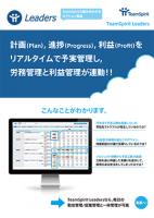 リアルタイムなプロジェクト原価管理を可能にするTeamSpirit Leaders 製品資料