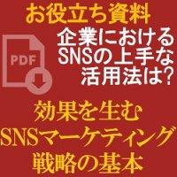 【お役立ち資料】企業におけるSNSの上手な活用法は?販促効果につながる「SNSマーケティング戦略の基本」