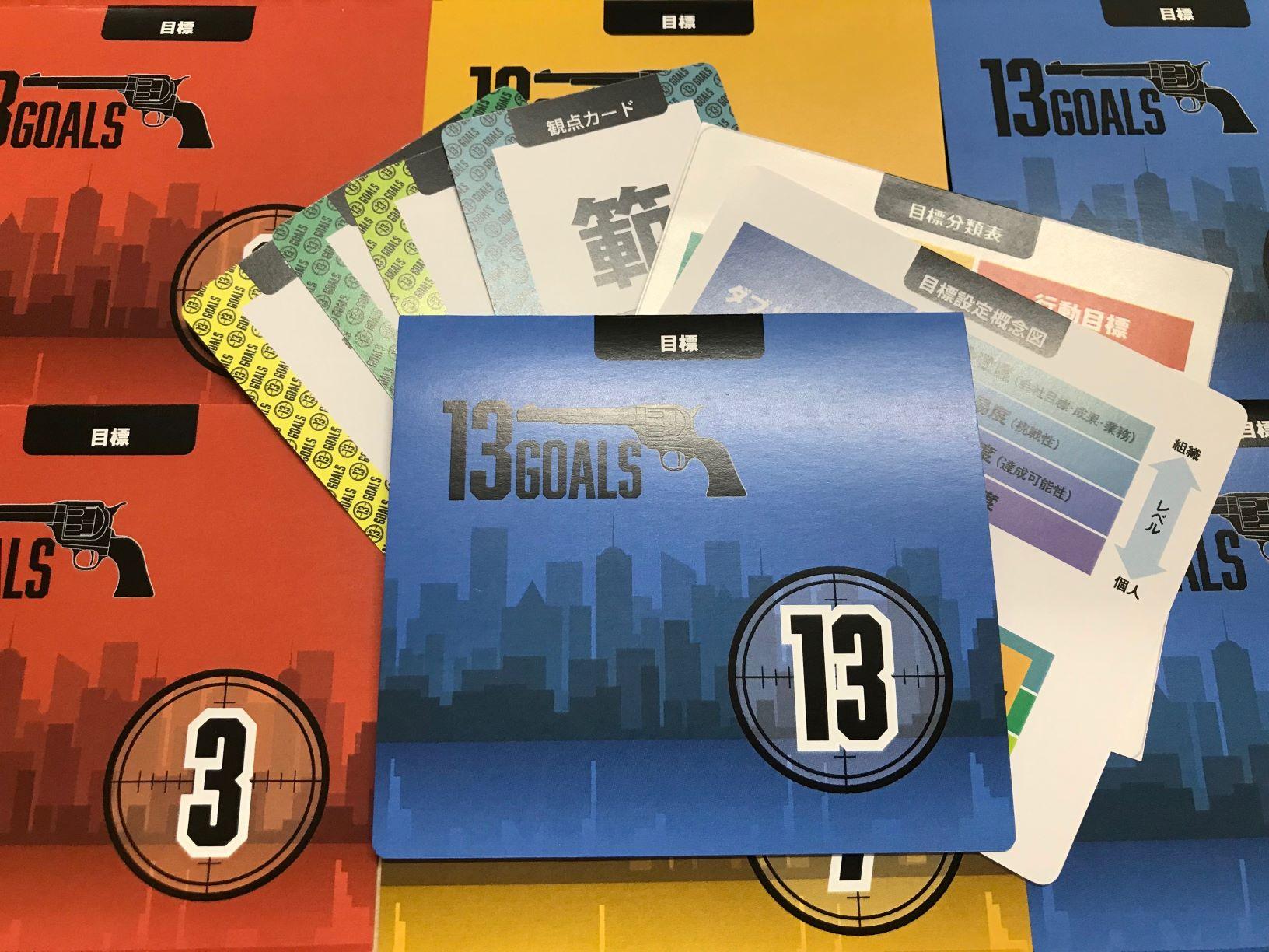 目標設定ツール「13Goals」-ゲーム型研修教材-